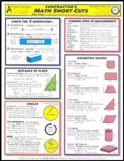 Quick Cards   Contractor's Math Short Cuts Inc. Builder's Book 9781889892283 Books