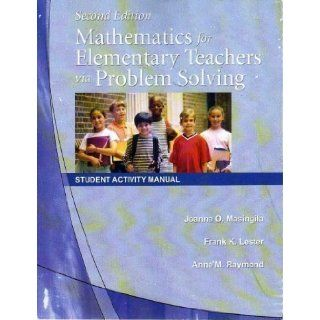 Mathematics for Elementary Teachers via Problem Solving Student Activity Manual 9781427502919 Books