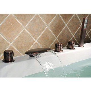 Oil Rubbed Bronze waterfall bath shower faucet   Bathtub Tap Faucets