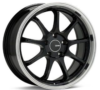 18x8.5 Enkei Tenjin (Black w/ Machined Lip) Wheels/Rims 5x100 (478 885 8045BK) Automotive