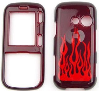 LG Rumor 2 LX265/Cosmos VN250 Transparent Red Flame Hard Case/Cover/Faceplate/Snap On/Housing/Protector Cell Phones & Accessories