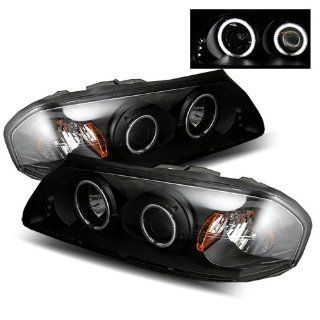 Chevy Impala Black CCFL Halo Projector Headlights /w Amber Automotive