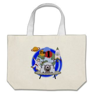 Outer Space 1st Birthday  T shirts and Gifts Canvas Bag