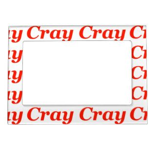 Cray Cray Crazy Going Crazy Nuts Bull Wild Animal Magnetic Picture Frames