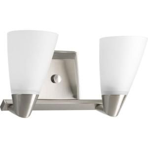 Progress Lighting Rizu Collection 2 Light Brushed Nickel Vanity Fixture P2806 09