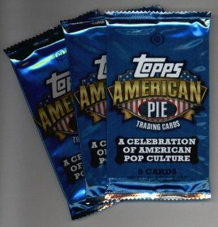 (3) 2011 Topps American Pie Pop Culture Trading Cards Unopened Hobby Pack (8 cards per pack)  Look for memorabilia cards, autographs, and other great inserts randomly inserted  Sports Related Trading Cards  Sports & Outdoors