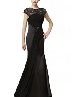 Kingmalls Womens Elegant Black Pleated Long Beaded Prom Dresses (Small) Mother Of The Bride Dresses