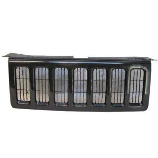 06 10 JEEP COMMANDER GRILLE W/BLACK MOLDING (W/MATERIAL BLACK BILLET GRILLE INSERT) Automotive