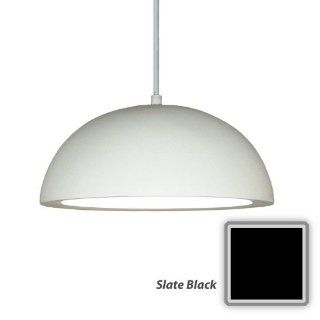 "A19 P302 A30 Slate Black Islands of Light Contemporary / Modern ""Gran Thera"" One Light Pendant from the Islands of Light Collection   Ceiling Pendant Fixtures"
