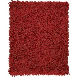 Anji Mountain Crimson Red 5 ft. x 8 ft. Silky Shag Area Rug AMB0652 0058