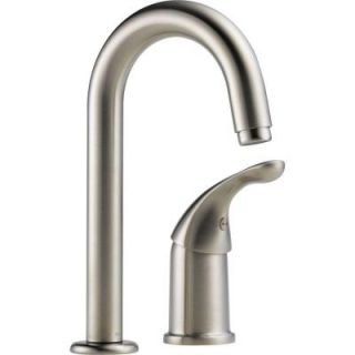 Delta Waterfall Single Handle Bar Faucet in Stainless Steel 1903 SS DST