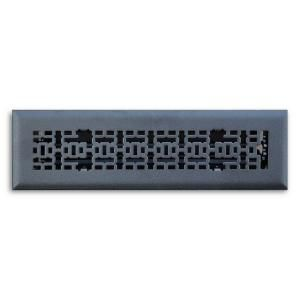T.A. Industries 02 in. x 10 in. Modern Contempo Floor Diffuser Finished in Matte Black H167 MMB 02X10