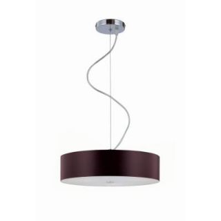Illumine Designer Collection 3 Light Walnut Ceiling Pendant with Walnut Wood Shade CLI LS 19988