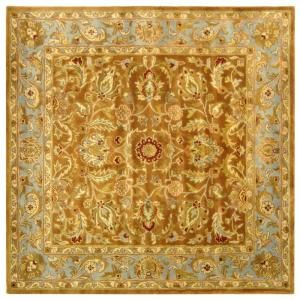 Safavieh Heritage Blue/Beige 6 ft. x 6 ft. Square Wool Area Rug HG811B 6SQ