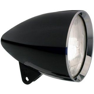 Headwinds 1 5800ZCZA 5 3/4 Concours Rocket Headlight Black Anodized HSG with chrome for Harley Davidson Automotive