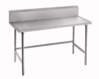 "14 Gauge Advance Tabco Spec Line TVKS 366 36"" x 72"" Stainless Steel Commercial Work Table with 10"" B"