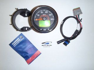 "OEM Evinrude Johnson 3"" ICON Pro LCD 7000 RPM Tachometer Kit, Chrome 766161 Sports & Outdoors"