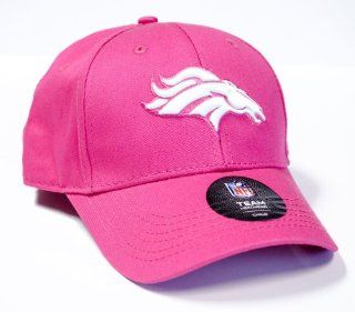 Officially Licensed NFL Denver Broncos Girls Embroidered Pink CHILD Size Hat Cap Lid  Sports & Outdoors