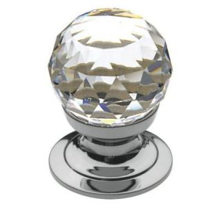 Baldwin Swarovski Faceted Crystal 3/4 in. Polished Chrome Round Cabinet Knob 4332.260.S