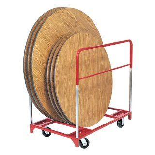 "Round Folding Table Mover w/ 5"" Casters   Two Fixed and Two Swivel"