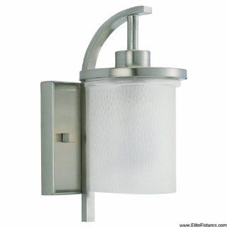 Sea Gull Lighting 89516PBLE Contemporary / Modern Single Light Energy Star Outdoor Wall Sconce from the Eter, Brushed Nickel   Wall Porch Lights