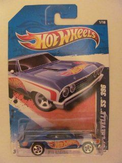 2011 Hot Wheels 1967 CHEVELLE SS 396 HW RACING 1 of 10, #151 blue w/ logo Toys & Games