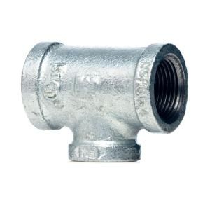 3/4 in. x 1/2 in. x 1/2 in. Galvanized Malleable Iron Reducing Tee 510 433HN