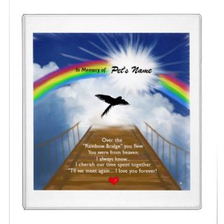 Rainbow Bridge Memorial Poem for Birds 3 Ring Binder