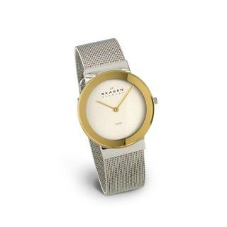 Skagen Women's Two Tone Stainless Steel Mesh Watch #358SGS Watches