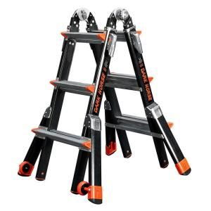 Little Giant Ladder Dark Horse 13 ft. Fiberglass Multi Use Ladder with 375 lb. Load Capacity Type 1AA Duty Rating DISCONTINUED 15143