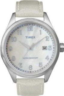 Timex Originals T2N409 Unisex T Series Pearl Dial Leather Strap Watch at  Men's Watch store.