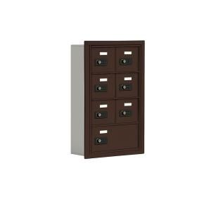 Salsbury Industries 19000 Series 17.5 in. W x 25.5 in. H x 5.75 in. D 6 A / 1 B Doors R Mount Resettable Locks Cell Phone Locker in Bronze 19045 07ZRC