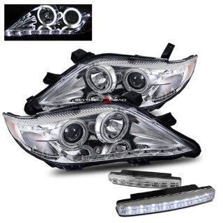 2011 Toyota Camry Halo Headlights Projector R8 Led Style + 8 Led Fog Bumper Light Automotive