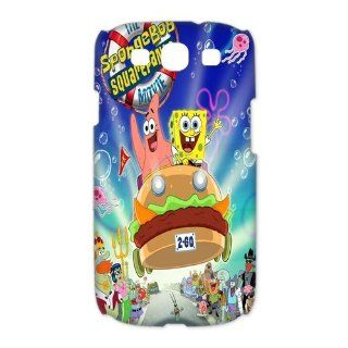 Custom Spongebob 3D Cover Case for Samsung Galaxy S3 III i9300 LSM 3293 Cell Phones & Accessories