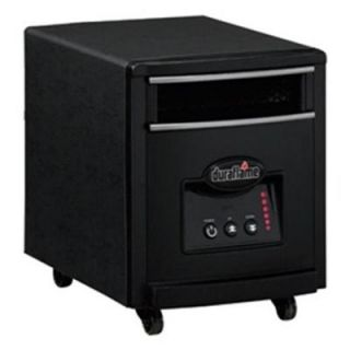 Duraflame 1000 Watt Infrared Quartz Electric Portable Heater   Black Steel Finish 7HM1000