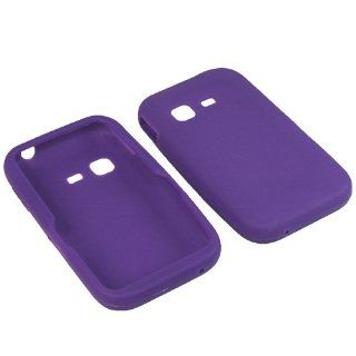 BW Silicone Sleeve Gel Cover Skin Case for Tracfone, Net 10, Straight Talk Samsung S390G Purple Cell Phones & Accessories