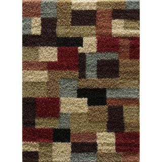 Tayse Rugs Casual Shag Multi 7 ft. 10 in. x 9 ft. 10 in. Transitional Area Rug 8510  Multi  8x10