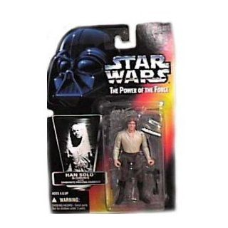 Star Wars Power of the Force Red Card Han Solo in Carbonite Action Figure Toys & Games