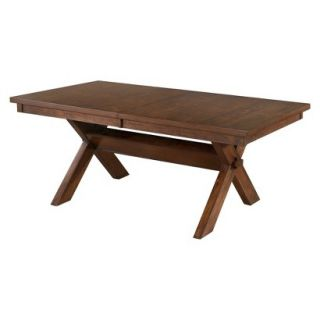 Dining Table Powell Kraven Dining Table   Brown