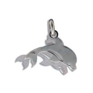 Hawaiian Jewelry Sterling Silver Double Dolphin Pendant Jewelry