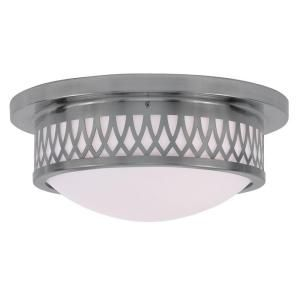 Filament Design Providence 2 Light Brushed Nickel Incandescent Flush Mount CLI MEN7352 91