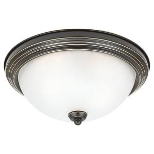 Sea Gull Lighting 3 Light Ceiling Heirloom Bronze Fluorescent Flush Mount 79565BLE 782