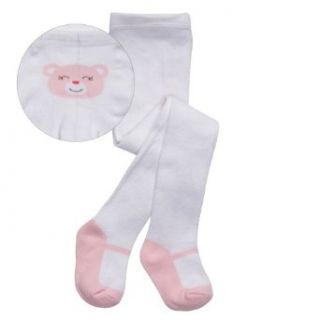 Carter's Hosiery Baby girls Newborn Bear Mary Jane Tight, Pink, 9 18 Months Clothing
