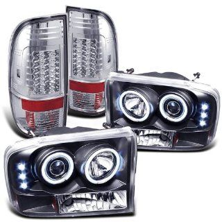 Rxmotoring 2001 Ford F250 Headlights Projector + Tail Light Automotive