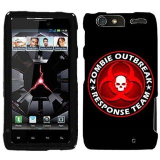 Motorola Droid Razr MAXX Zombie OutBreak Response Team Red on Black Phone Case Cover Cell Phones & Accessories