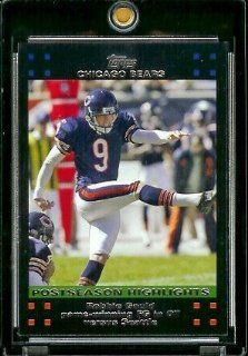 2007 Topps Football # 434 Robbie Gould Game Winning FG in OT versus Seattle   Chicago Bears   POSTSEASON HIGHLIGHTS   NFL Trading Cards Sports Collectibles