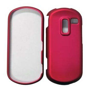 For Straight Talk Samsung R455c Accessory   Pink Hard Case Protector Cover + LF Screen Wiper Cell Phones & Accessories
