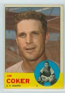 1963 Topps Baseball 456 Jim Coker Giants Very Good Tough Series Sports Collectibles