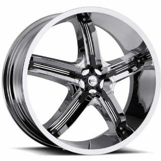 "Milanni Bel Air 5 (459 Series) Chrome Front Wheel with Black Accents (17x7""/5x100mm) Automotive"