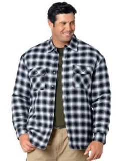 Canyon Ridge Big & Tall Quilted Plaid Flannel Shirt Jacket at  Men�s Clothing store